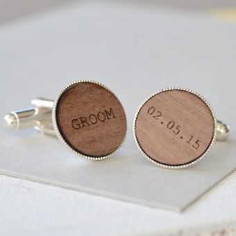 Grooms cuff links