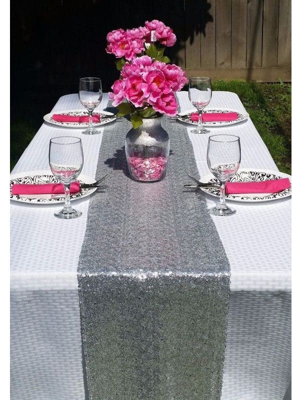 Preferred Silver/Gold Sequin Table Runner For Wedding/Event/Party/Banquet  ZU82