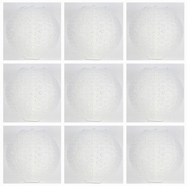 High quality 7 size White Hollow round Paper Lantern Ball Festival Supplies Chinese Paper Lantern For Wedding Party Decoration