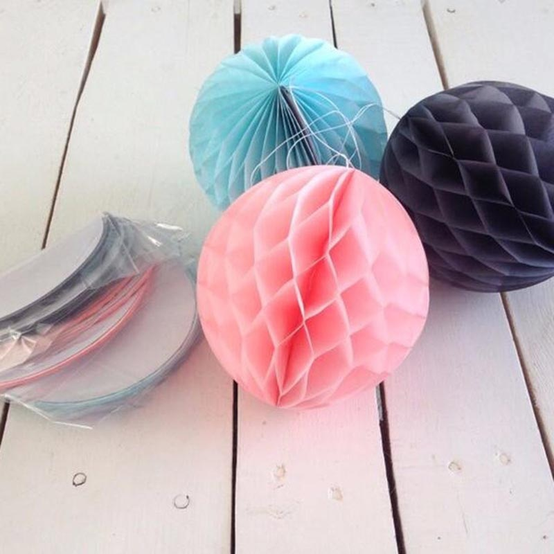 1pc 2'' 4'' 6'' honeycomb ball paper flower lantern ball wedding party kids birthday party xmas decoration baby show supplies