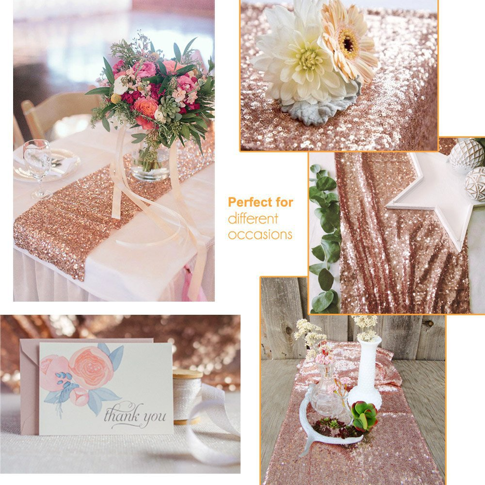 18 color Sequin Rose Gold/Silver Modern Table Runners Cheap Wholesale For Wedding Party Decoration Hotel Table Runner Home Decor