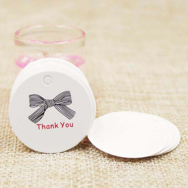 Brown White Paper Gift Label Tag, Brown White Paper Gift Label Tag 100pcs Multi Cute Handmade Jewelry Charms Tag Round Wedding Favors Cookies Decorative Tag, The Big Wedding Store, The Big Wedding Store