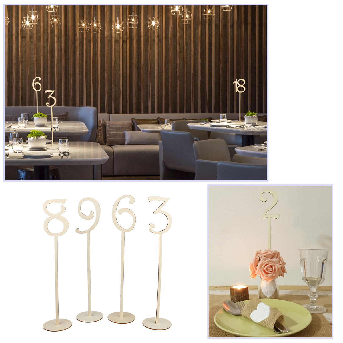 Wedding Table Number Table Cards Seat Cards Table Number Signs Place Holder Wedding Decoration Party Supplies Home Decoration