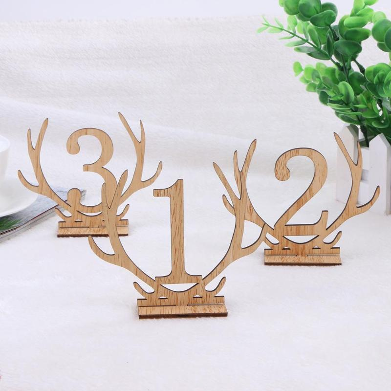 20pcs Number 1-20 Wedding Seat Cards Wedding Table Numbers Maker Place Holder Wedding Party Decoration Supplies