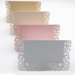 Pearlescent Lace Name Place Cards