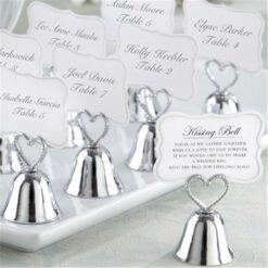 Silver Bell Place Card Holder/Photo Holder Wedding Table Decoration Favors