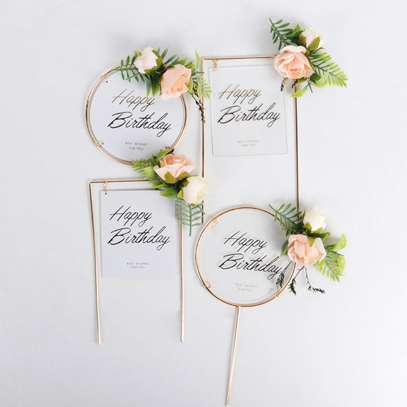 1set Creative 10pcs 5inch Balloon Cake Topper Set Birthday Party Decoration Cake Toppers Baby Shower Wedding Decor Supplies
