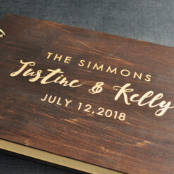 engraved wedding guests book