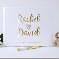 personalized wedding guests book
