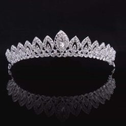 Gorgeous Silver Crystal Bridal Crown