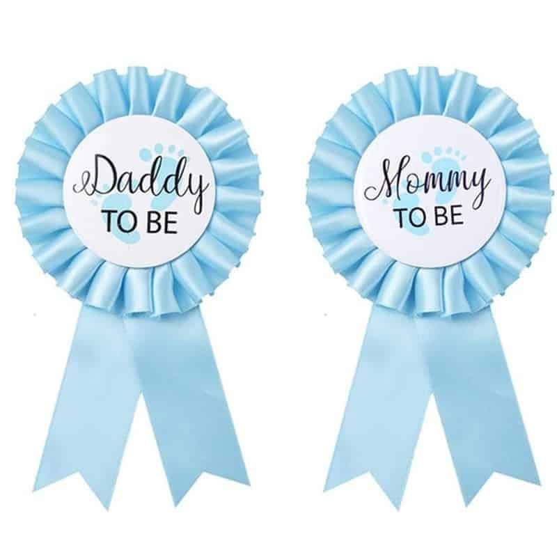Bride To Be Baby Shower Christening & Baptism Party Badge Happy Birthday Dad to be & Mom to be Ribbon Badge Decorative Gift
