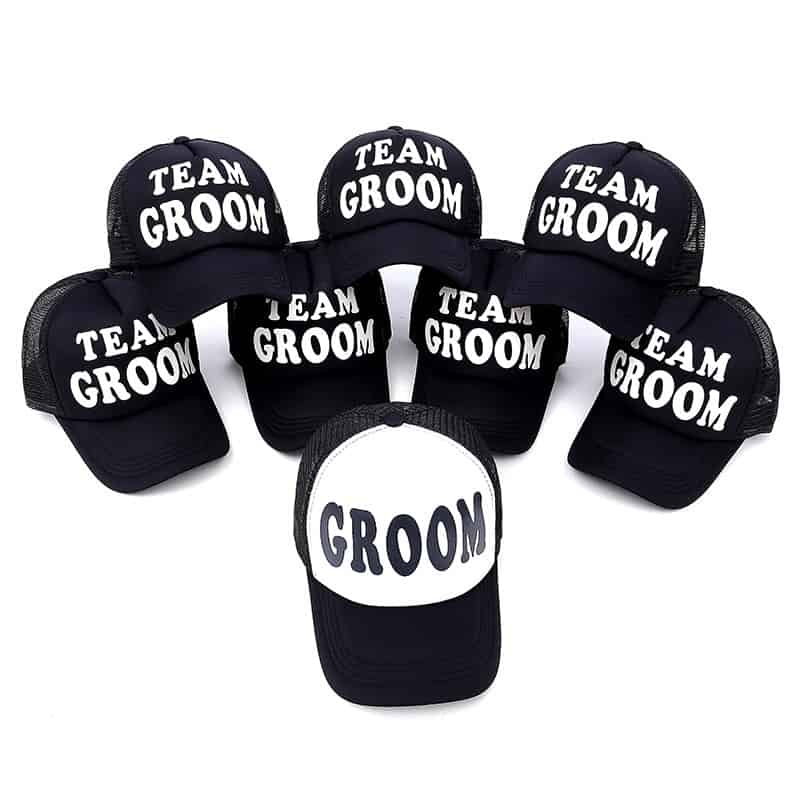 Bride to be groom groomsman Bridesmaid gift hat Bachelorette hen night Party Wedding engagement Bridal Shower decoration favor