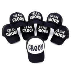 Groom Bride Bridal Party Hats
