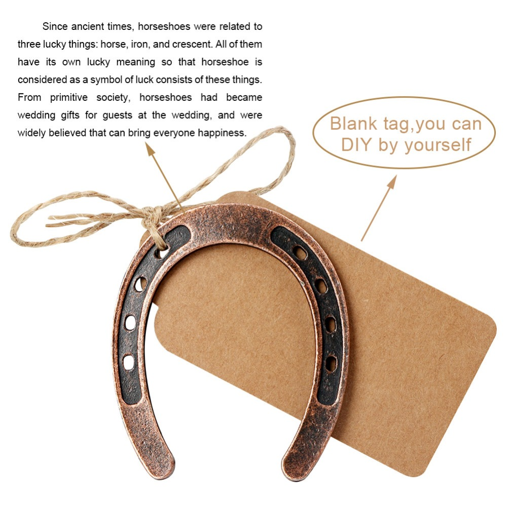 OurWarm Lucky Gift Metal Horseshoe Wedding Favors for Guest Birthday Anniversary Souvenir Barn Wedding Party Supplies