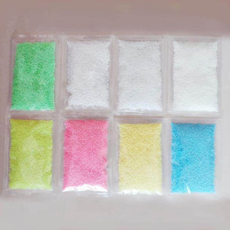 Fluorescent Glow Powder Super luminous Particles Sand Glow Pigment Glow in the Dark Home Party Decor 1Bag Colorful