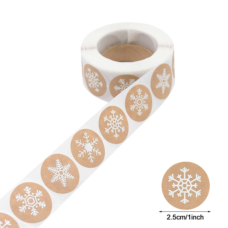 500pcs Merry Christmas Stickers Christmas Tree Elk Candy Bag Sealing Sticker Christmas Gifts Box Labels Decorations New Year