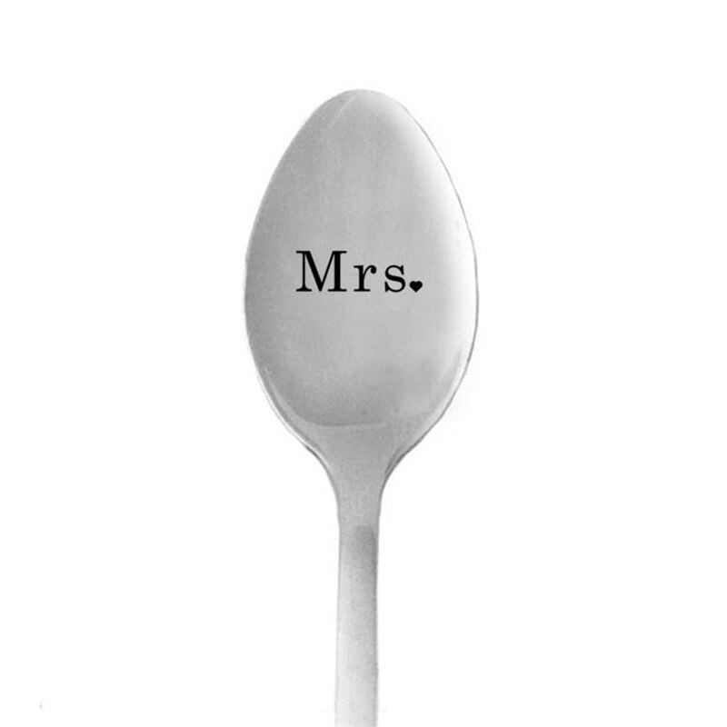 Valentines Day Gift for Boyfriend Girlfriend Coffee Spoon Good Morning Handsome Wedding Gifts for Guests Party Favors Present